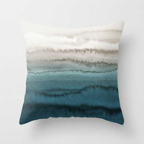 """WITHIN THE TIDES - CRASHING WAVES TEAL Throw Pillow, 18"""" - Society6"""