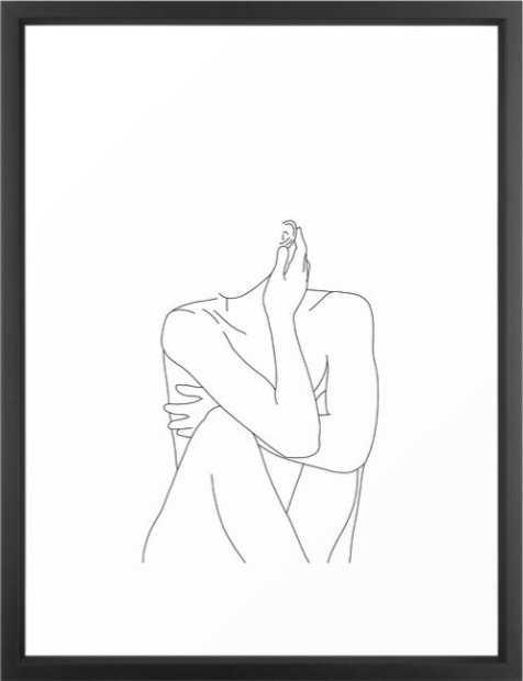 Nude Life Drawing Figure - Society6
