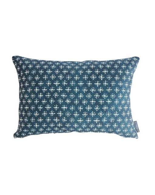 """NEWPORT CROSS PILLOW COVER, Pillow cover only - 14"""" x 20"""" - McGee & Co."""