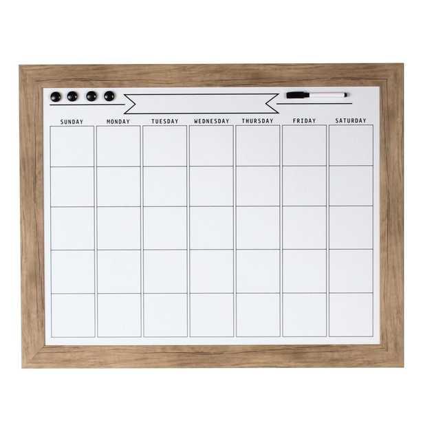 Beatrice Dry Erase Monthly Calendar Memo Board - Home Depot