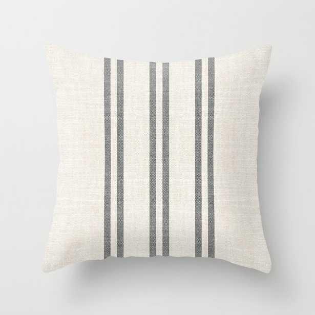 AEGEAN GREY STRIPE Throw Pillow - Society6