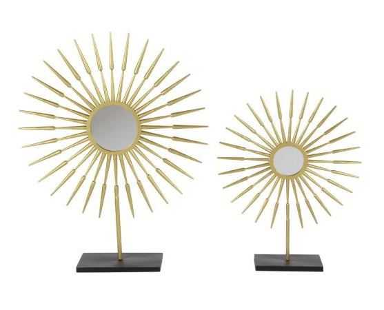 28 in. Arrow-Shaped Radial Pattern Decorative Sculptures in Gold and Black (Set of 2) - Home Depot