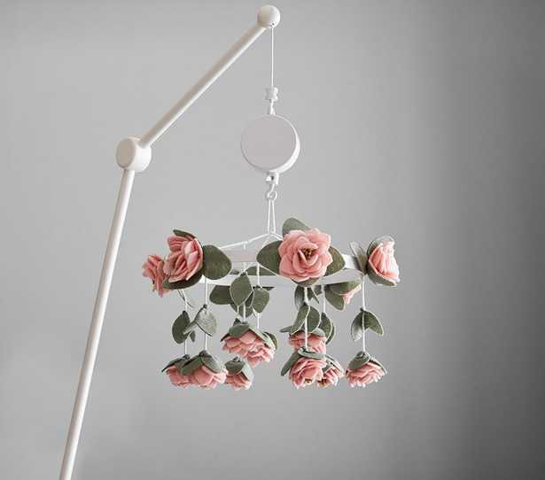 Felted Pink Roses Musical Crib Mobile - Pottery Barn