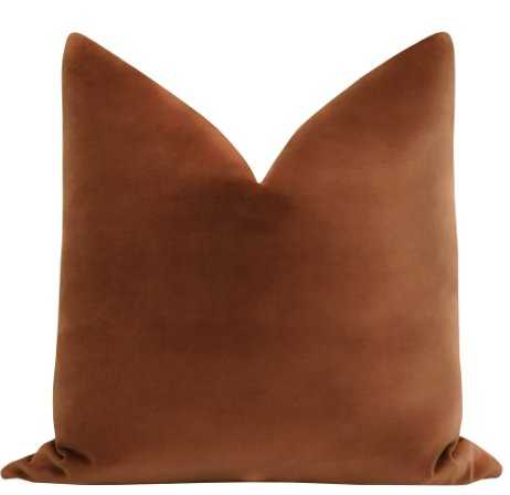 """Sonoma Velvet // Rust 18"""" Pillow Cover - Little Design Company"""