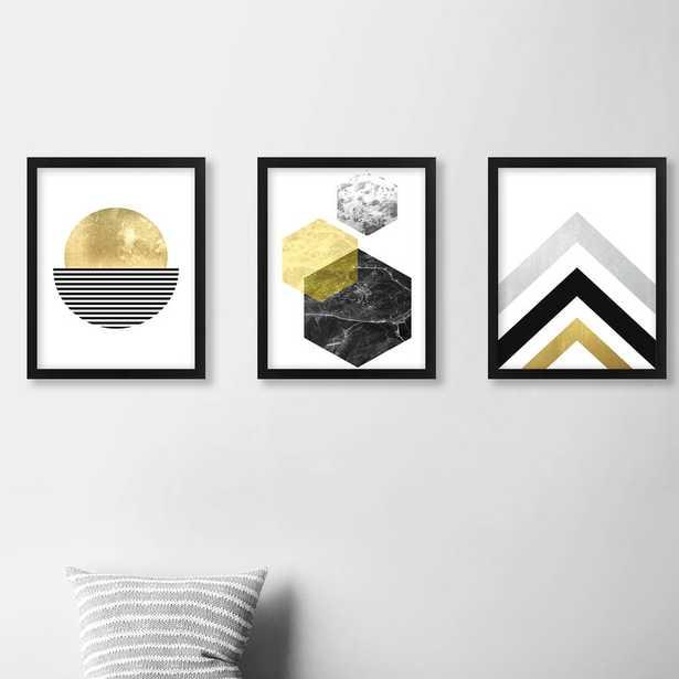 Geometric by Pop Monica - 3 Piece Picture Frame Print Set on Paper - AllModern