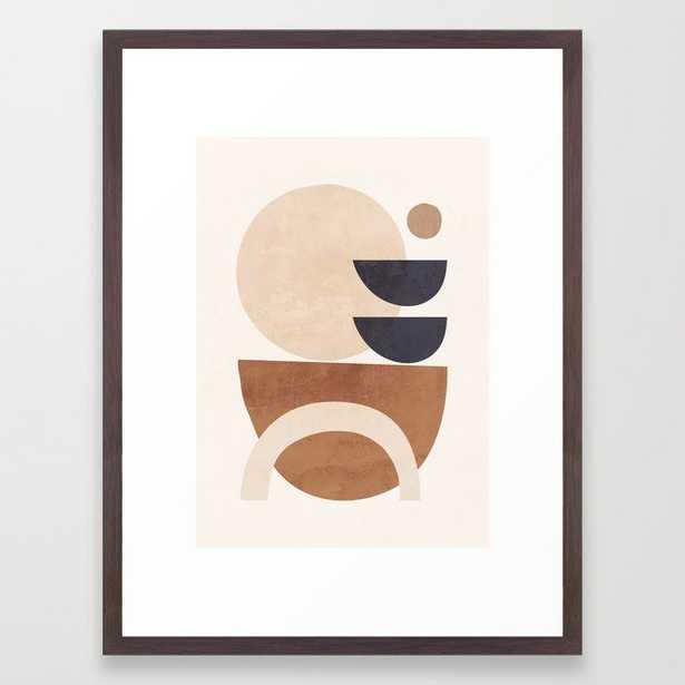 Abstract Minimal Shapes 33 Framed Art Print - Society6