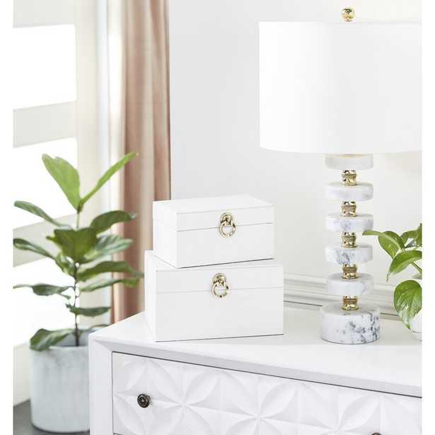 Schmid Wood 2 Piece Decorative Box Set - Wayfair