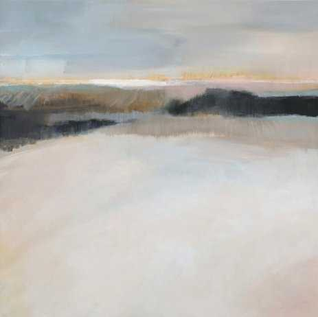 """A Winter's Walk 30"""" x 30"""" Canvas - Minted"""