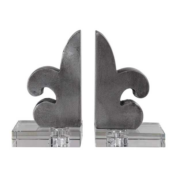 LILY BOOKENDS, S/2 - Hudsonhill Foundry