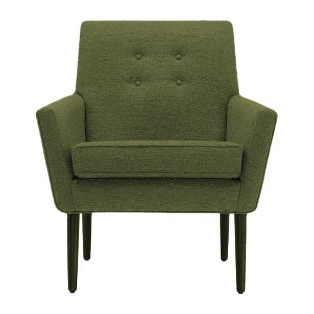 Burns Chair in Faithful Olive with Mocha Wood Stain - Joybird