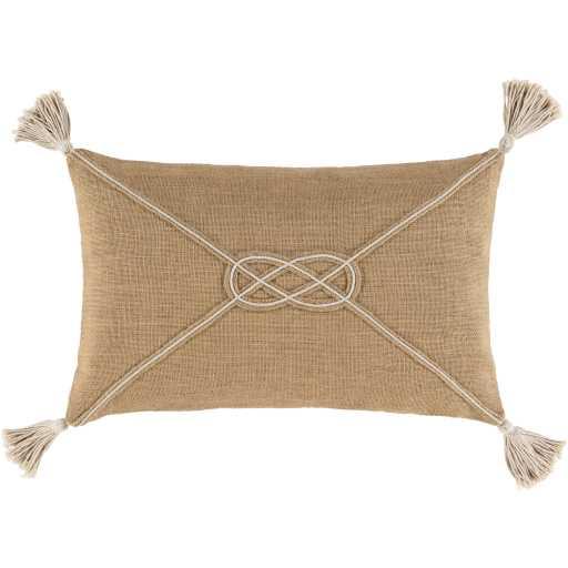 """London Lumbar Pillow, 14""""x 22"""", Camel - Cove Goods"""