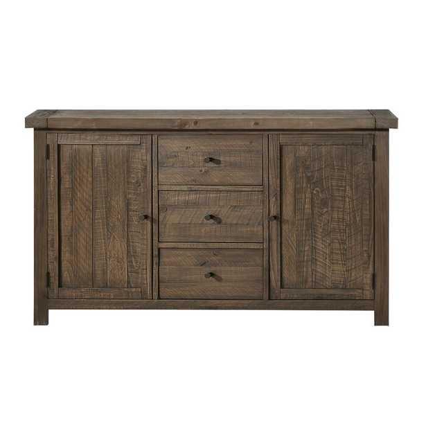 Bertans 67'' Wide 2 Drawer Acacia Wood Sideboard - Wayfair