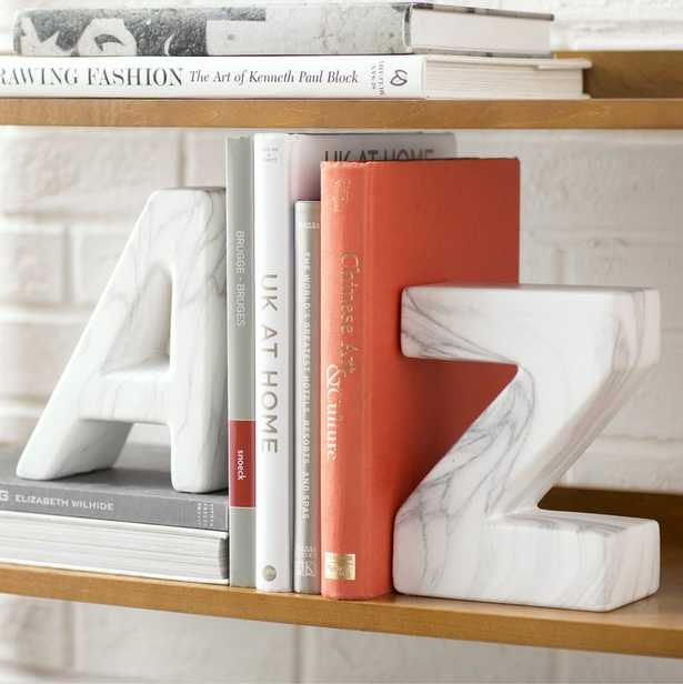 """A"" and ""Z"" Ceramic Book Ends - Wayfair"