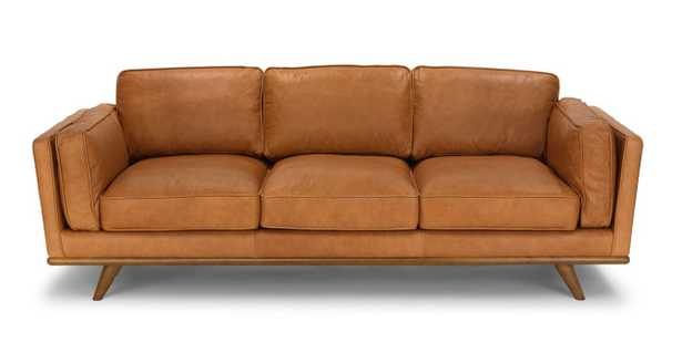 TIMBER Charme Tan Leather Sofa - Article