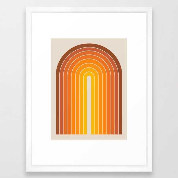 Gradient Arch - Vintage Orange Framed Art Print - Society6
