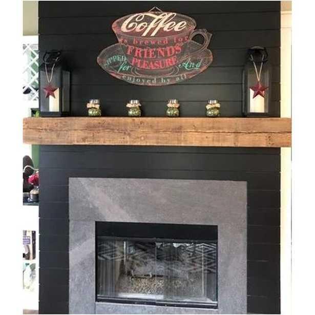 Dewald 8' x 8' Reclaimed Barn Beam Fireplace Shelf Mantel - Wayfair