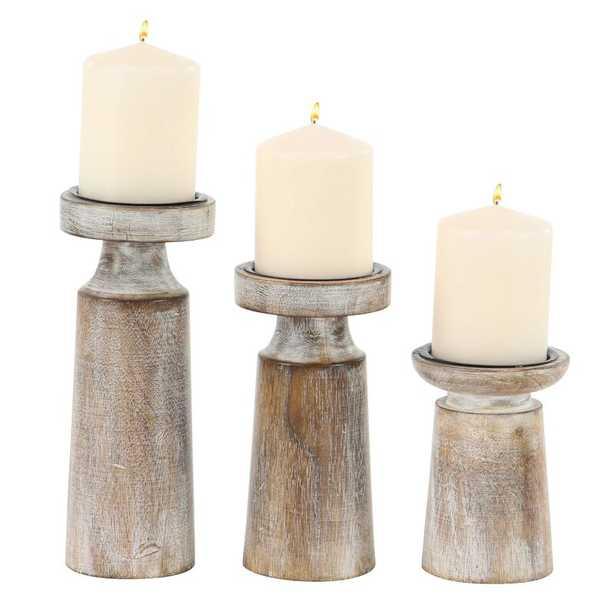 3 Piece Tabletop Candlestick Set - Wayfair
