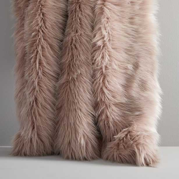 Faux Fur Brushed Tips Throw - West Elm