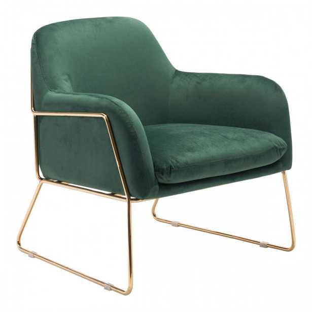 Nadir Arm Chair Green & Gold - Studio Marcette