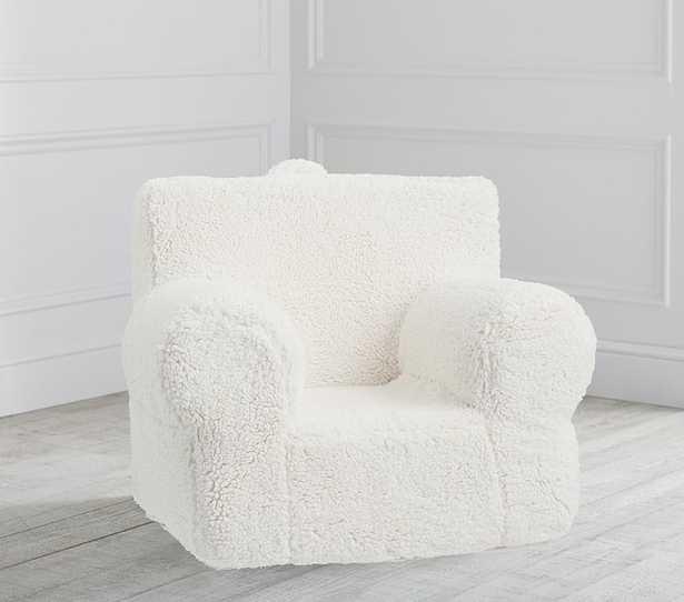 Cream Sherpa Anywhere Chair® Regular - Pottery Barn