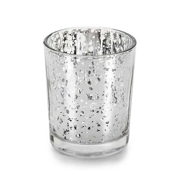 Rhinestone Trim Small Mercury Glass Votive Holder, set of 12 - Wayfair