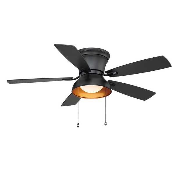 Banneret  52 in. LED Natural Iron Ceiling Fan with Light - Home Depot