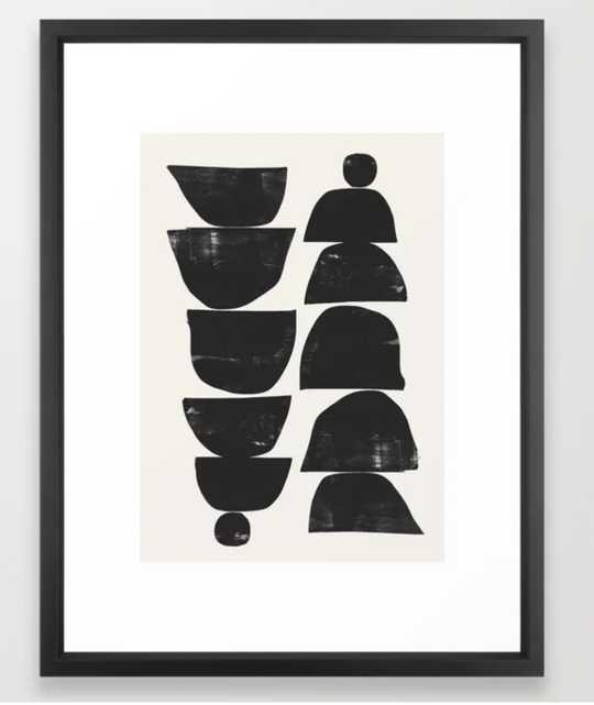 Minimal Plant Framed Art Print 20 x 26 - Society6