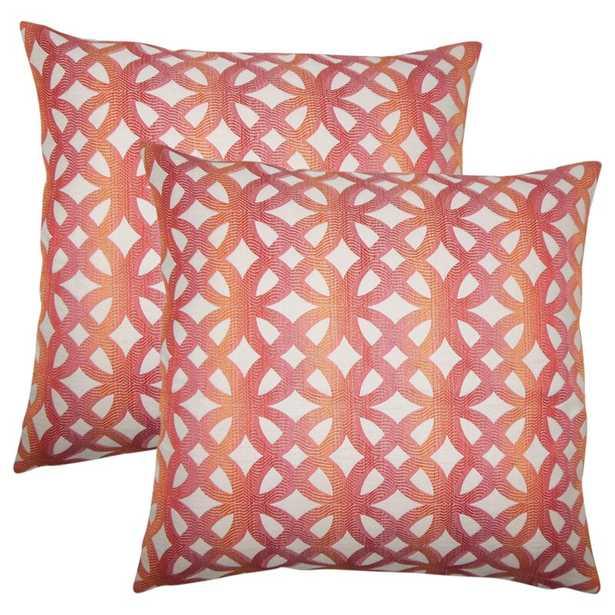 Strohm Geometric Throw Pillow (Set of 2) - Wayfair