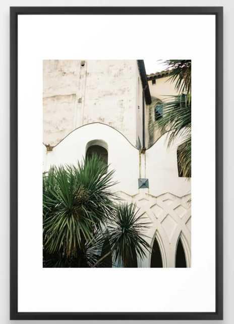 "Italian architecture on the Amalfi coast   Travel photography Italy Europe Framed Art Print 26"" x 38"" Vector black - Society6"