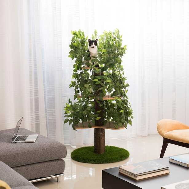 "60"" Henrietta Cat Tree Green/Brown - Wayfair"