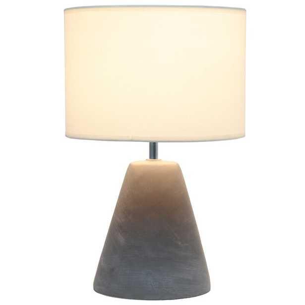 "Aleah 14.2"" Gray Table Lamp - Wayfair"