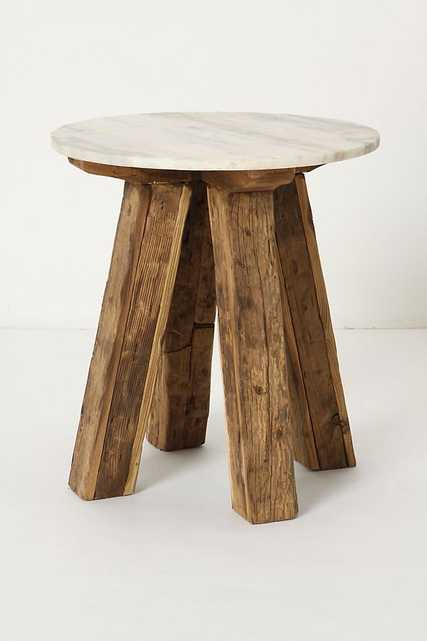 Marble-Topped Side Table - Anthropologie