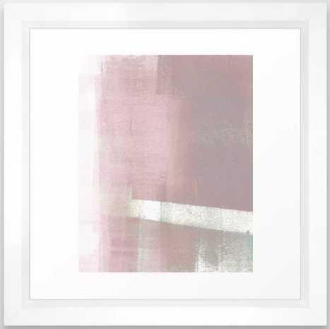 Blush Pink Geometric Abstract Framed Art Print - Society6