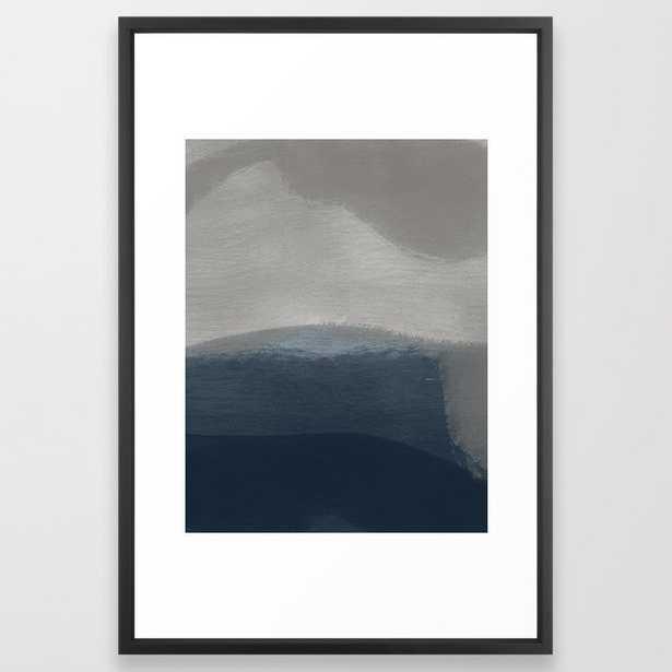 Feeling is Leisure Abstract Art Framed Art Print - Society6