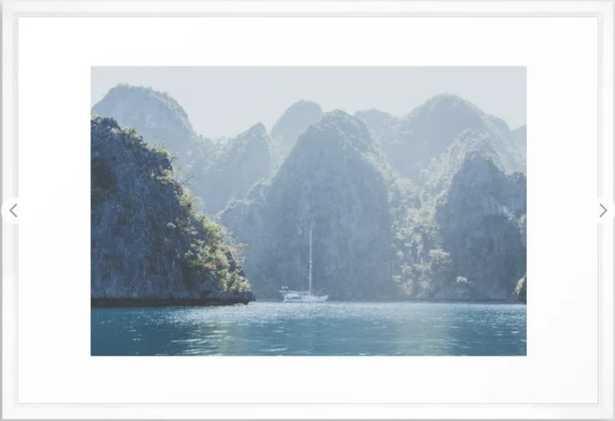 """Philippines III Framed Art Print - 26x38"""" - Vector White Frame - Society6"""