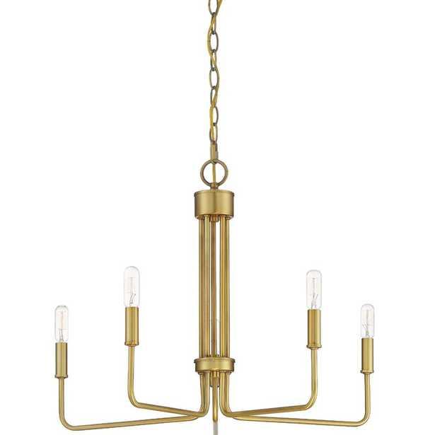 5 Light Chandelier -Natural Brass - Wayfair