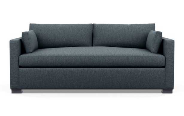 Charly Sleeper Sofa with Sleepers in Rain Fabric with matte black L Leg - Interior Define