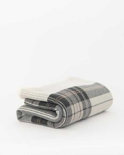 Ivory & Gray Plaid Throw - McGee & Co.