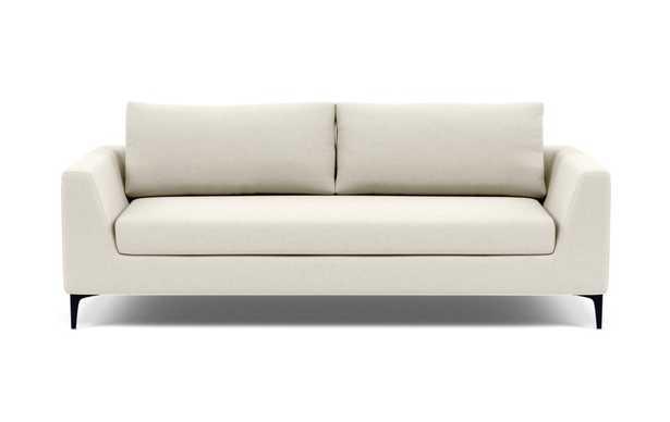 "ASHER Sofa, Chalk, Matte Black Legs, 81"", Bench cushion, Down Alt - Interior Define"