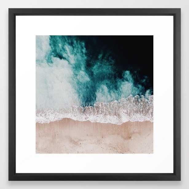 "Ocean (Drone Photography) Framed Art Print by Clay & Sand - 22""x22"" - Society6"