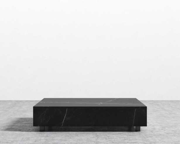 "Liza Coffee Table - Black Marble, 40"" x 60"" - Rove Concepts"