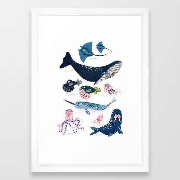 Sea Life Framed Art Print - Society6