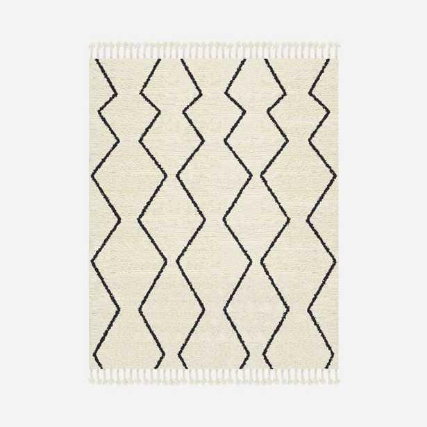 Souk Wool Rug - Graphite 8'x10' - West Elm
