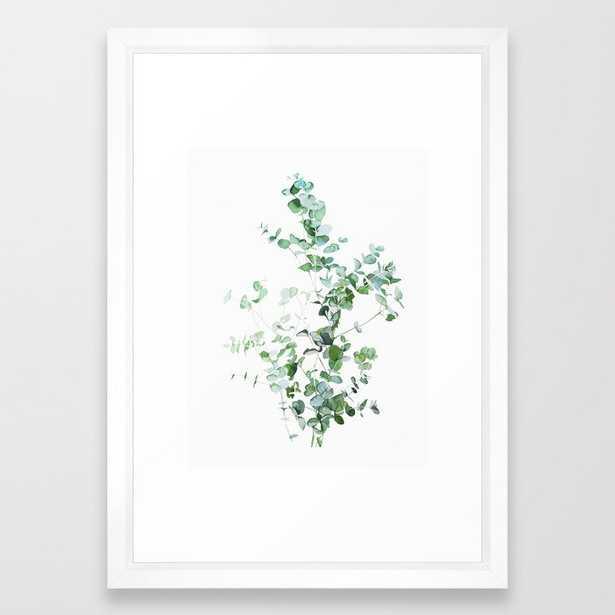"""Botanical Framed Art Print White Frame - 15""""x21"""" - Society6"""