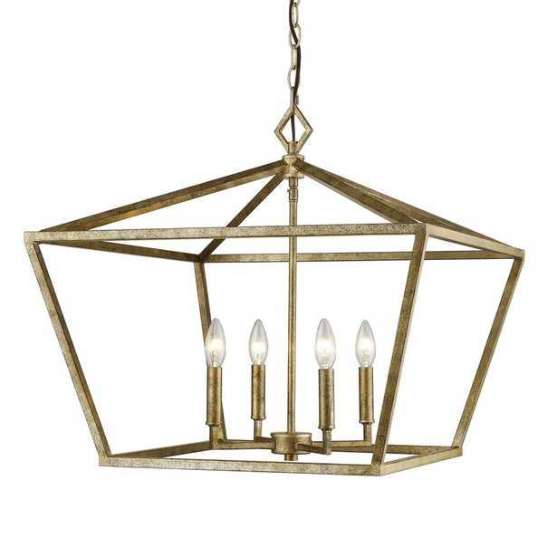 Poisson 4 - Light Lantern Geometric Chandelier - Wayfair