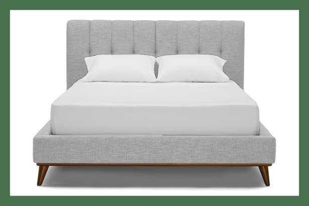 Gray Hughes Mid Century Modern Bed - Milo Dove - Mocha - Cal King - Joybird