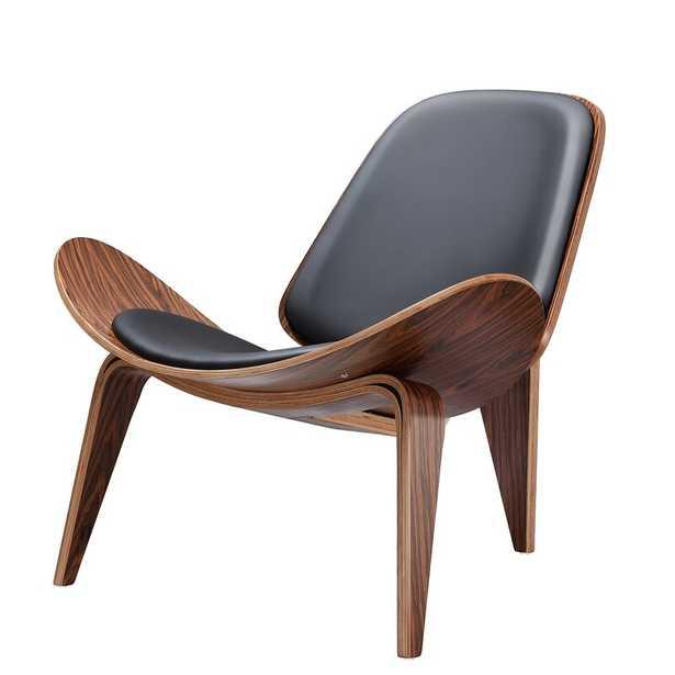 Almodovar 36.2'' Wide Tufted Genuine Leather Full Grain Leather Lounge Chair - Wayfair