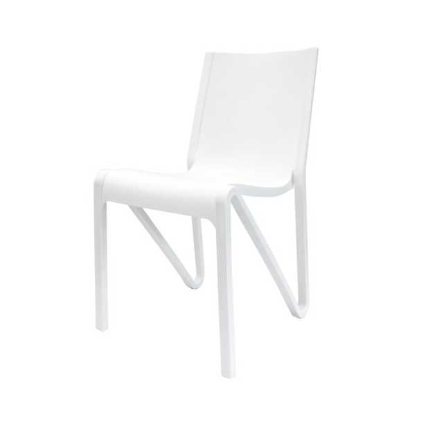 Kinman Modern Stacking Patio Dining Chair set of 4 - Wayfair