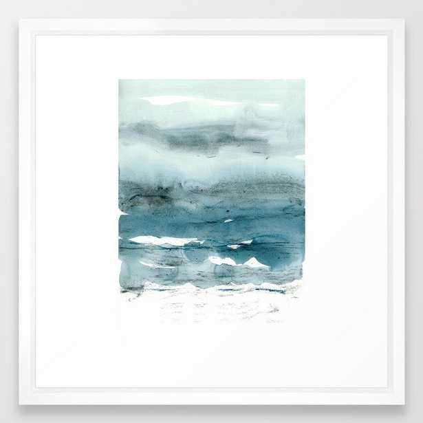 dissolving blues Framed Art Print - Society6