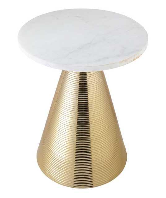 Heidi Marble Side Table - Maren Home